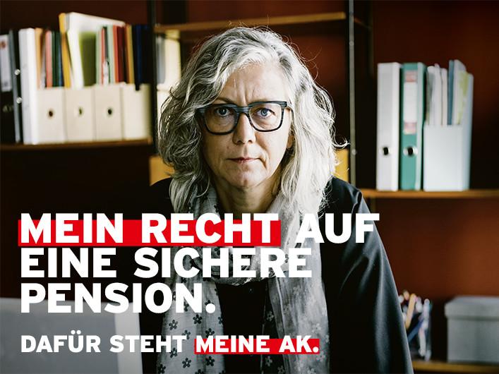 Mein Recht auf eine sichere Pension © Tbwa