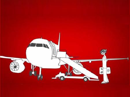 Comic: Ein Mann fliegt in den Urlaub © News on Video, News on Video