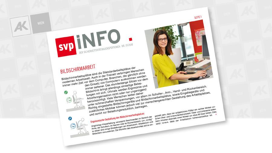 Cover der Wandzeitung zeigt eine Frau, die am Computer arbeitet © AK Wien